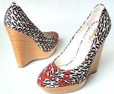 YSL YVES SAINT LAURENT Runway MARYANA Poppy-Leopard Print WEDGE 39 $795 US 8-8.5