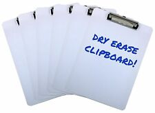 Clipboard Dry Erase Surface 9'' x 12.5'' Letter Size Low Profile Clip Whiteboard