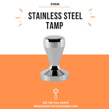 51mm Coffee Tamper Stainless Steel Polished