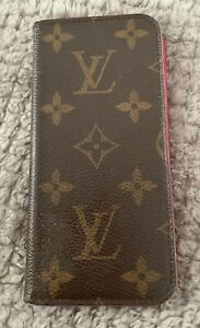 Authentic Louis Vuitton Monogram LV Folio iPhone 6 Case Cover Free Shipping