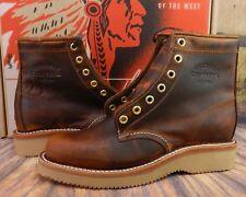 "Chippewa Boots Women's Renegade 6"" 1901W25 Brown Leather Plain Toe USA 6 M"