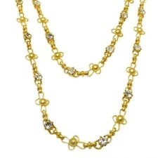 La Vie Parisienne Gold Convertible Clear Crystal Ball Chain Necklace 1531G Popes