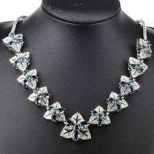 Stunning S/Silver London Blue Topaz AAA Cz Ac Necklace 2 Weimaraner Rescue chari