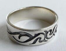Bandring Tribal 925er Silber Vintage 70er silver ring