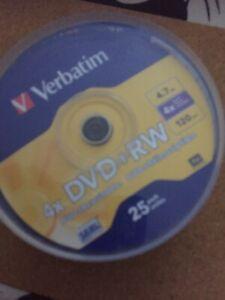 Verbatim 25 DVD + Rw DVD Blank Rewritable Disc 25 In This Pack