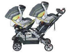 Twins Baby Strollers Double 2 Car Seats Combo  Boy Girl Baby Trend Travel System