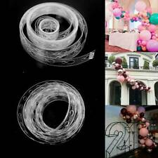 5M Balloon Decorate Strip Arch Garland Connect Chain DIY Tape Party Bar Decor UK