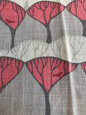 35cm VILLA NOVA Lorton linen blend curtain fabric remnant..tree bird