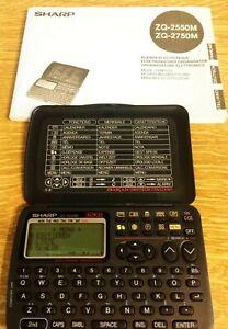 SHARP-ZQ-2550-ELEKTRONISCHER ORGANISATOR- Sehr gut erh. Sie bieten hier auf e