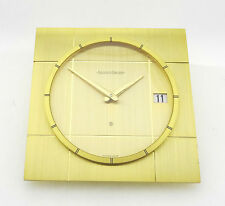 Jaeger LeCoultre, seltene Schreibtischuhr, Cal. 228, 8 Tage, Vintage, vergoldet