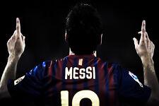 "Messi football canvas print poster 30""x20"""
