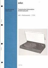 Braun Service Manual für P 701