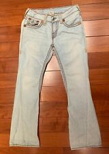True Religion Men's Light Blue Washable Flared Jeans New Without Tags