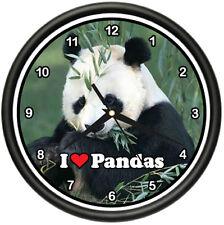 PANDA BEAR Wall Clock giant animal zoo collector gift