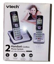 VTech 2 Handset Cordless Phone System CS6719-2 DECT 6.0 Black Silver