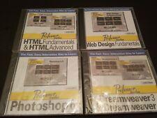 NEW LOT OF 4 CD ROM PROFESSOR TEACHES PHOTOSHOP HTML DREAMWEAVER & WEB DESIGN