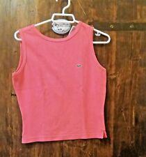 LACOSTE  donna rosa taglia 36 FR DEVANLAY vintage maglietta t shirt maglia