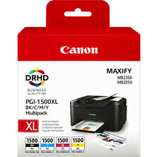 Canon Genuine Pgi-1500xl 4 Colour XL Multipack Ink Tank for MAXIFY Mb2050 Mb2350