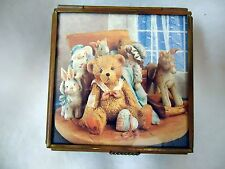 Cherished Teddies Via Vermont Trinket Box Christopher Used