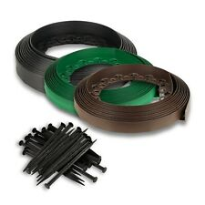More details for grass border lawn edging strong flexible garden plastic wall 32 ft /10m+30 pegs