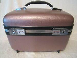 Vintage AMERICAN TOURISTER Lavender train case cosmetics beauty travel suitcase