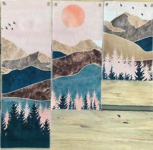 Riveted Canvas Wall Decor Mountain Scene