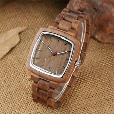 Orologio in legno di Noce naturale 43mm - NUOVO - Wood Watch - cassa in acciaio