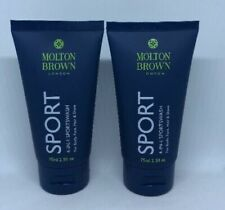 Molton Brown 4 in 1 Sports Wash For Body, Face, Hair & Shave 2x 75ml New