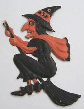 "Vintage Halloween 1920s Germany Mini Witch Die-Cut DieCut 5"" Tall"