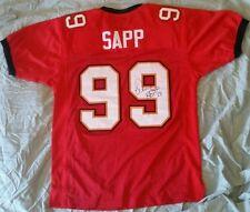 Tampa Bay Buccaneers Warren Sapp Signed Autographed Bucs Jersey w/ COA