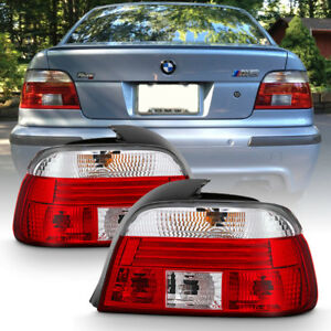 """1997-2000 BMW E39 5-Series """"FACTORY STYLE"""" Red Reflector Tail Lights Lamps Pair"""