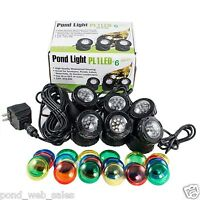 Jebao Submersible 6 pcs 12-Led Pond Lights for Underwater Fountain Pond + Sensor
