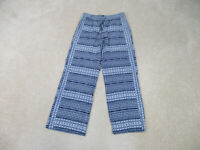 Tommy Bahama Pants Womens Small Blue White Lightweight Rayon Casual Ladies B34
