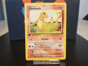 Pokemon Karte - Glumanda 1. EDITION - Base Set - #46/102 - Common