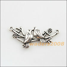 4 New Charms Tibetan Silver Birds on Branch Pendants Connectors 21x45.5mm