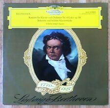 WILHELM KEMPFF Beethoven Konzert für Klavier und Orchester Nr. 4 G-dur op. 58 LP