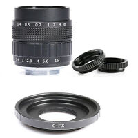 Fujian 50mm F1.4 CCTV TV lens for Fuji Fujifilm X-A2 X-A1 X-T1 X-E2 &adapter