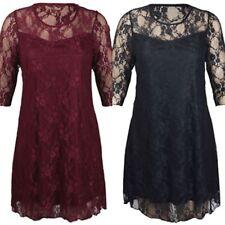 Lace Plus Size Floral Party Dresses for Women