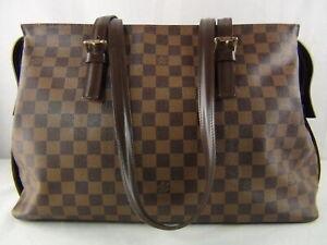 US seller Authentic LOUIS VUITTON DAMIER CHELSEA TOTE SHOULDER BAG PURSE Good LV