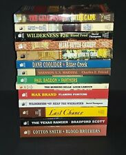 Lot Of 14 Paperbacks Western Exceptionally Good collection See list + pictures