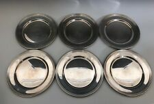"""Set of (6) S. Kind & Son Philadelphia Sterling Bread and Butter Plates 6 """""""