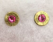 Bullet Jewelry Ammo October Birthstone Earrings 9mm, 38 Sp., 357, 40 Caliber