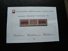 SUISSE - document 1982 timbre yt n° 1148a n** (cy34) switzerland