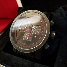 "Nixon ""The Magnacon Elite Chrono"" (Black) 100M 6-Hand Swiss Mvmt w/ Case [11J]"