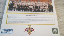 BOSTON BRUINS 1998-1999 TEAM PICTURE @ 75 YEARS LOGO