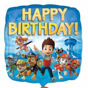 Happy Birthday Paw Patrol foil Balloon - 43cm (17 inches)  x2