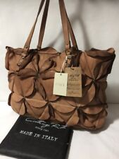 NWT COSTANZA ROTA Made In Italy Tan Leather Tote Handbag Purse Shoulder Bag
