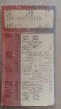 Foo Fighters Concert Ticket Stub