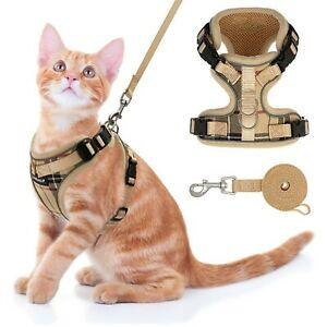 Cat Harness and Leash Set - Escape Proof Adjustable Puppy Harness for Outdoor...