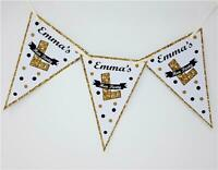 Personalised Hen Party Bunting Gold Silver Glitter effect Do night Decoration